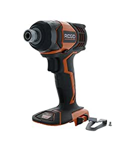 Ridgid R86034 X4 18V Lithium Ion 1750 LBS Torque 1/4 Inch Hex Shank Impact Driver (Battery Not Included, Power Tool Only) (Certified Refurbished)