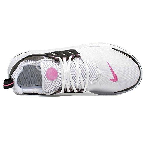 Zapatillas Para Correr Nike - Niños Pequeños Presto Gs Blanco / Rosa Explosivo / Negro