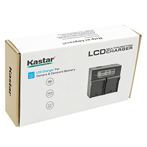 Kastar LCD Dual Smart Fast Charger for Canon LP-E6 LPE6 and Canon 70D, 5D Mark II and III, 80D, 7D Mark II, 60D, 6D, 7D DSLR Cameras BG-E14, BG-E13, BG-E11, BG-E9, BG-E7, BG-E6 Grips