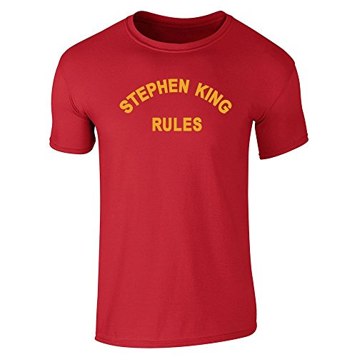 Stephen King Rules Halloween Costume Horror Red M Short Sleeve T-Shirt ()