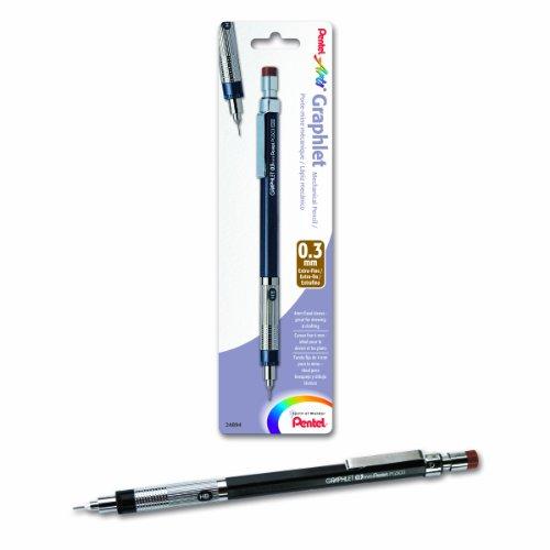 Pentel Arts 0.03mm Graphlet Mechanical Drafting Pencil, Brown Cap (PG503BPED)