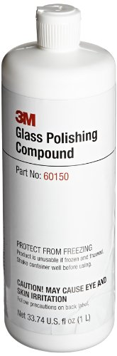 3M Glass Polishing Compound 60150, 1L Capacity, White (Pack of - For Glasses Scratch Filler