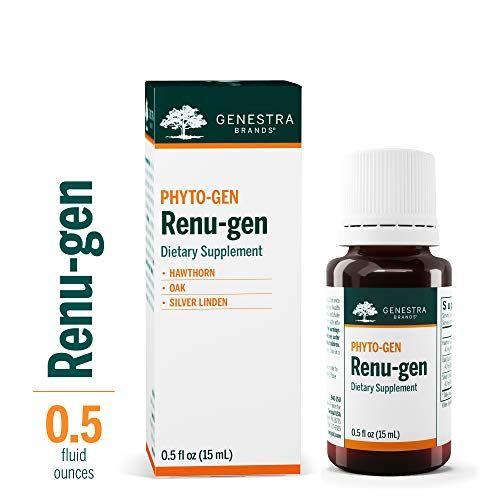 Genestra Brands - Renu-gen - Hawthorn, Oak, and Silver Linden Herbal  Supplement - 0 5 fl oz (15 ml)