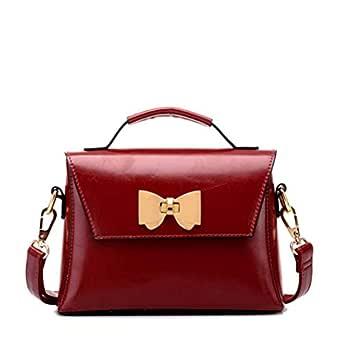 Fashion Black Shoulder Bag For Women Bowknot Casual Dress Crossbody Bag Ladies Leather HandBag