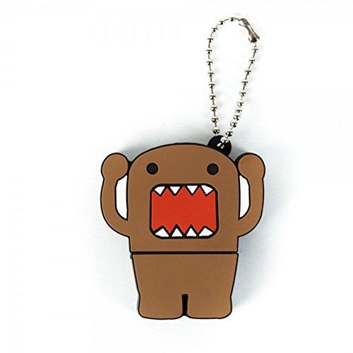 (Domo FLSHDRVE-DOMO Kun Flash Anime Character USB Thumb Drive with Snap Keychain, 4 GB)