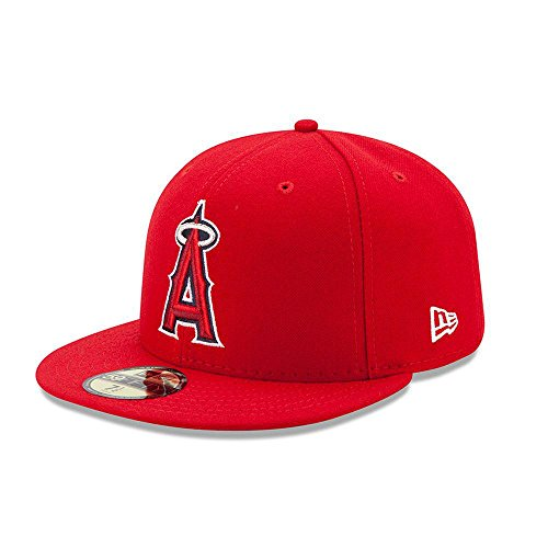 New Era 59FIFTY New Era Los Angeles Angels of Anaheim MLB 2017 Authentic Collection On Field Game Cap Size 7 1/8