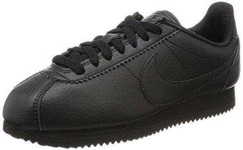 Nike Womens Classic Cortez STR LTR Running Trainers 884922 Sneakers Shoes (US 6.5, black black black 001)