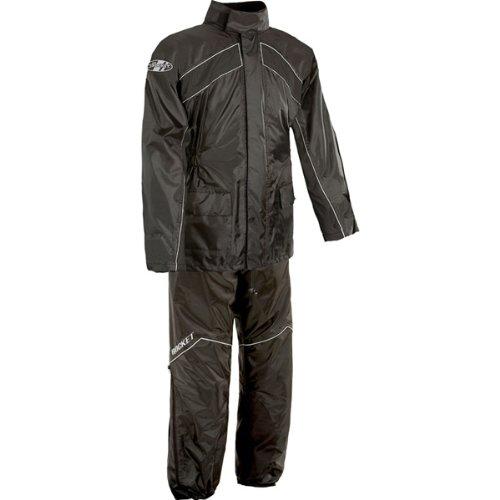 Joe Rocket RS-2 Men's 2-Piece Street Racing Motorcycle Race Suit - Black/Black / 2X-Large