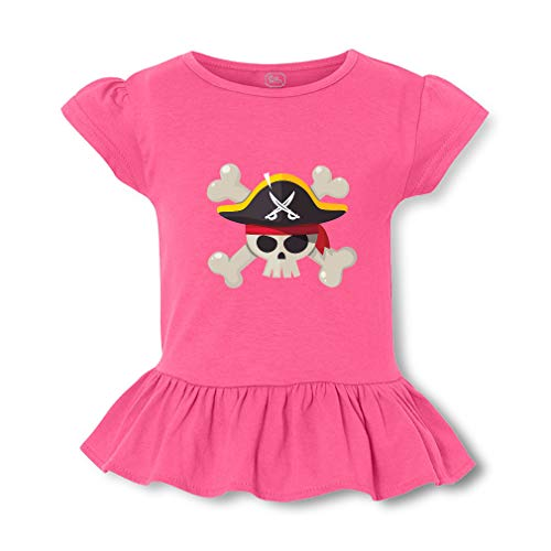 Pirate Short Sleeve Toddler Cotton Girly T-Shirt Tee - Hot Pink, 4T]()
