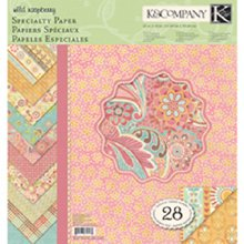 K&Company Wild Raspberry Double-Sided Specialty Paper Pad, 12-Inch by 12-Inch, 28 Sheets