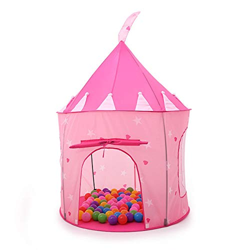 TENCMG Princess Castle Tent - Rocket Play House Tent - Dollhouse Outdoor and Indoor Playhouse Tent - for 1-8 Years Old Kids,D,135x105cm/53x41in