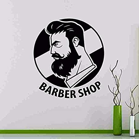 Nuevo Real Man Barber Shop Hair Salon sign logo Etiqueta de la pared Art Decal Corte de pelo Carteles Vinilo windon Puerta Decoración Mural