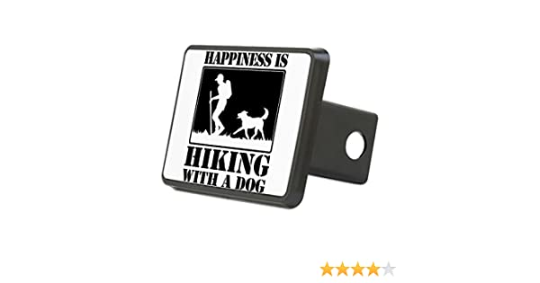 Trailer Hitch Cover Happiness is Hiking with A Dog Hitch Cover Truck Receiver Hitch Plug Insert CafePress