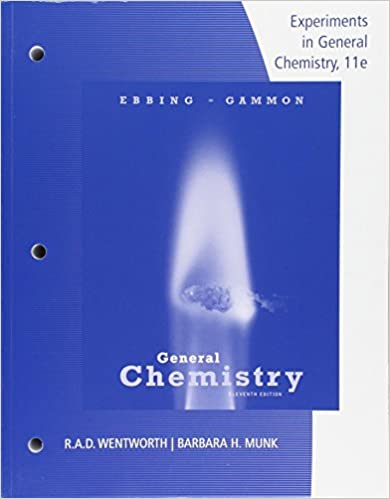 Lab manual experiments in general chemistry darrell ebbing steven lab manual experiments in general chemistry 11th edition fandeluxe Images