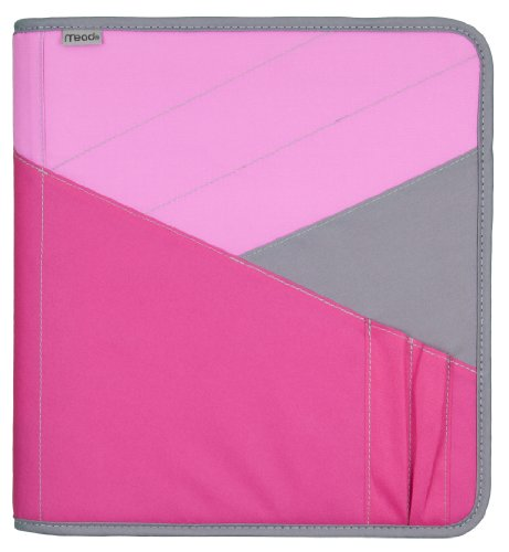 - Mead Zipper Binder with Expanding File, 3 Ring Binder, 1-1/2