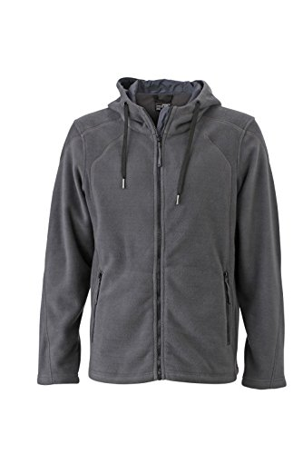 Moderna Giacca black Cappuccio Pile Con Carbon Fleece In Men's Hoody qPwgqZA