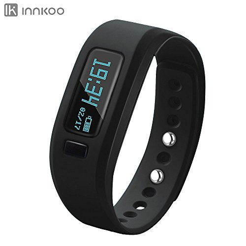 Fitness Tracker Watch, InnKoo U2 Pedometer Band Calories Counter Smart Sports Bracelet Wristband Activity and Sleep Monitor, for Women Men Kids Senior Bluetooth Sync - Bands Kids Ray For