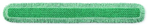 Rubbermaid Commercial HYGEN Microfiber Dust Mop Pad, 60 Inch, Green, FGQ46000GR00
