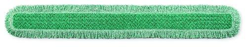 Rubbermaid Commercial HYGEN Microfiber Dust Mop Pad, 60 Inch, Green, FGQ46000GR00