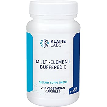 Klaire Labs Multi-Element Buffered C, 250 Vegetarian Capsules