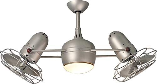 Matthews DGLK-BN-MTL Ceiling Fan with Light