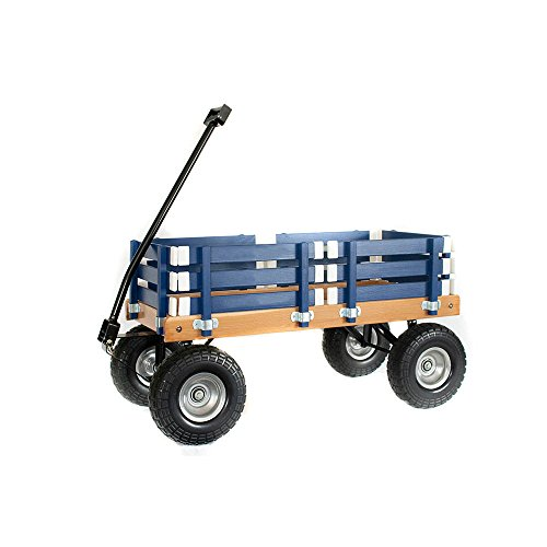 Berlin F410 Amish-Made Sport Ride-On Wagon, Navy