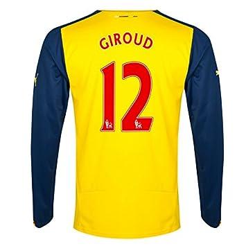 e6023d1e4 2014-15 Arsenal Long Sleeve Away Shirt (Giroud 12) - Kids  Amazon.co ...
