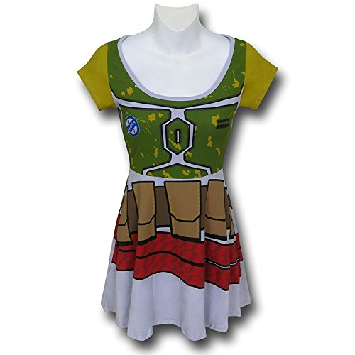 Star Wars Boba Fett Skater Dress- Slim Large Grey-Light]()