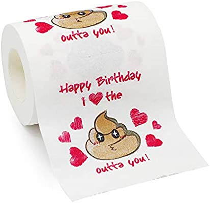 Bravo Sport Happy Birthday Novelty Toilet Paper Funny Bithday Gag Gift For Men Or Women I Love The Shit Out Of You Toilet Paper Amazon Sg Toys Games