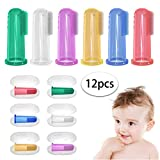Baby Toothbrush with Case Set (6 PCS),Finger Toothbrush for Babies