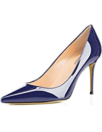 90579852ffc Women s Pointed Toe Pumps Slip-On Office Business High Heels Sexy Stiletto  Shoes 85mm