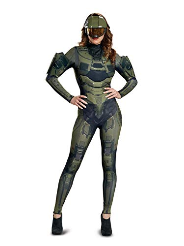 Disguise Women's Master Chief Adult Female Deluxe Costume, Green S (4-6) ()