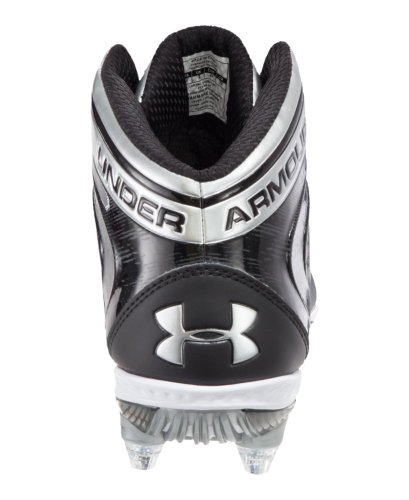 Under Armour Men's UA Saber Mid D Football Cleats 8.5 Black
