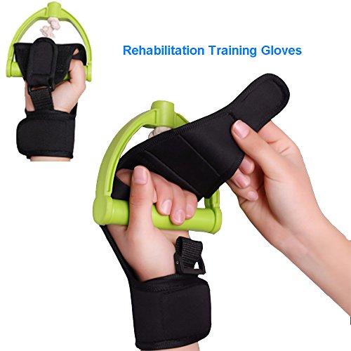 Enshey Rehabilitation Training Gloves Finger Splint Brace Ability Finger Gloves Brace Elderly Fist Stroke Hemiplegia Finger Anti-Spasticity Rehabilitation Auxiliary Training Gloves