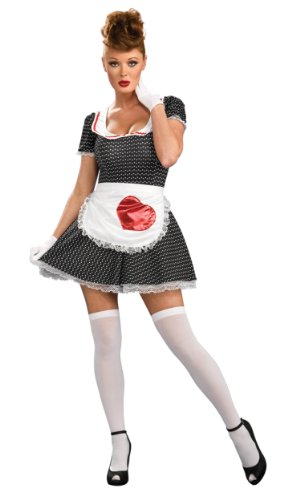 Secret Wishes Women's Sassy Adult 50's Housewife Costume, Multicolor, (Halloween Housewife Costume)