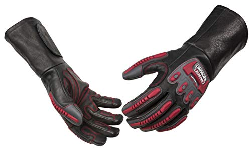 (Lincoln Electric Roll Cage Welding/Rigging Gloves | Impact Resistant | Black Grain Leather |)