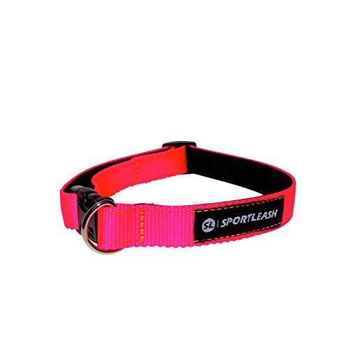 Neoprene-Lined Dog Collar (SportCollar) - Neon Pink w/ Neon Orange
