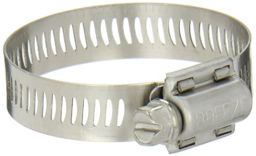 Breeze Power-Seal Stainless Steel Hose Clamp, Worm-Drive, SAE Size 28, 1-5/16