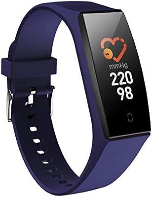 Lacyie Pulsera de Actividad Inteligente Mujer Hombre,Presión Arterial y Ritmo Cardíaco Fitness Tracker de Deporte Impermeable Reloj Fitness Podómetro ...