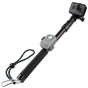 Telescopic Selfie Stick Pole for Go Pro Hero, iPhone, Samsung,Action Cameras, HSU Adjustable Monopod Pole for GoPro camera and gopro hero 5