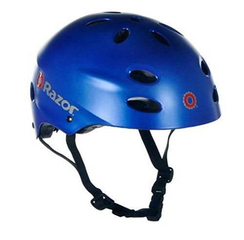 Razor Youth Helmet - Razor V-17 Youth Multi-Sport Helmet Teen Protection Safety Satin Blue