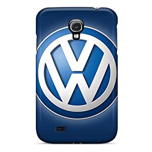 Great Hard Cell-phone Case For Galaxy S4 With Customized High Resolution Volkswagen Logo Pattern No1cases