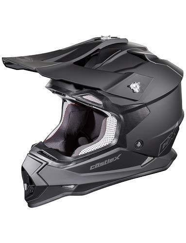 Castle Mode MX - Motocross/Off-Road/ATV/UTV Helmet (MED, Matte Black)