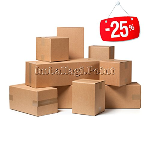 20 pezzi SCATOLA DI CARTONE imballaggio spedizioni 15x13x17cm scatolone avana