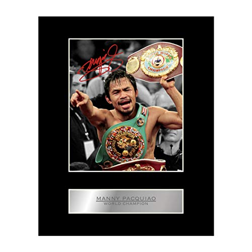 Manny Pacquiao Signed Mounted Photo Display Boxing Champion Pac Man #3 Autographed Gift Picture Print