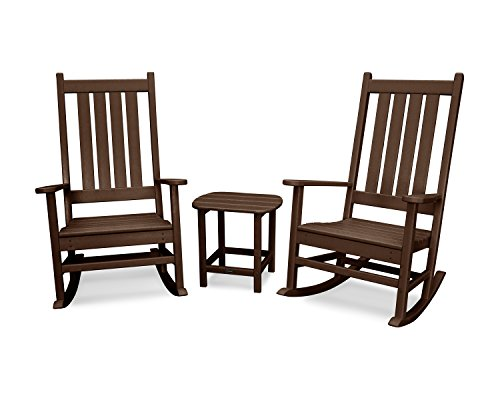 POLYWOOD Vineyard 3-Piece Rocking Set (Mahogany)