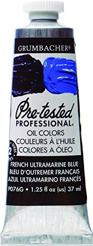 Grumbacher Pre-Tested Oil Paint, 37ml/1.25 Ounce, French Ultramarine Blue (P076G) by Grumbacher
