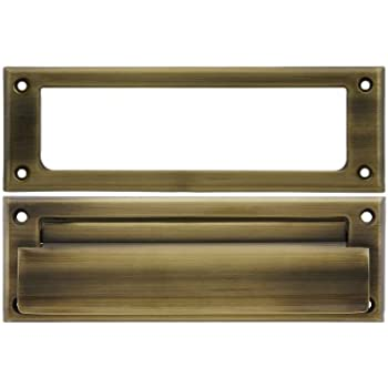 Solid Brass Letter Size Mail Slot With Open Back Plate In