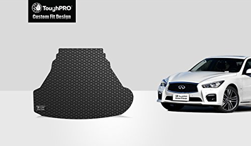 TOUGHPRO Cargo/Trunk Mat Accessories Compatible with Infiniti Q50 (2.0t) - All Weather - Heavy Duty - (Made in USA) - Black Rubber - 2014, 2015, 2016, 2017, 2018, 2019, 2020