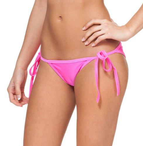 Women's New String Bikini Swimsuit Bottom By Gary Majdell Sport Neon Pink Large
